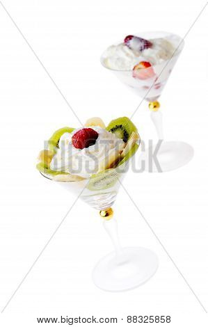 Fruit With Whipped Cream