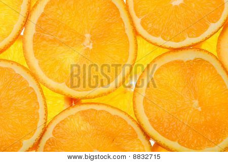 slices of an orange