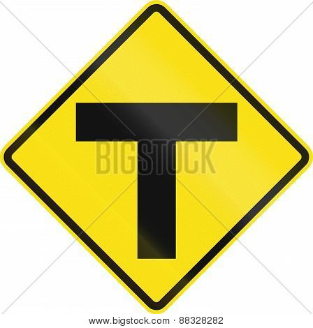 Intersection Ahead In Chile