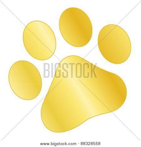 Gold Paw Print