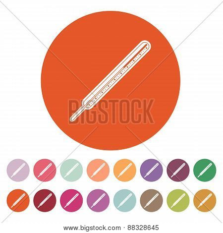The Medical Thermometer Icon.
