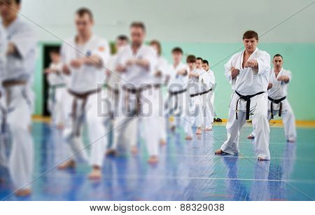 Lesson In Karate School