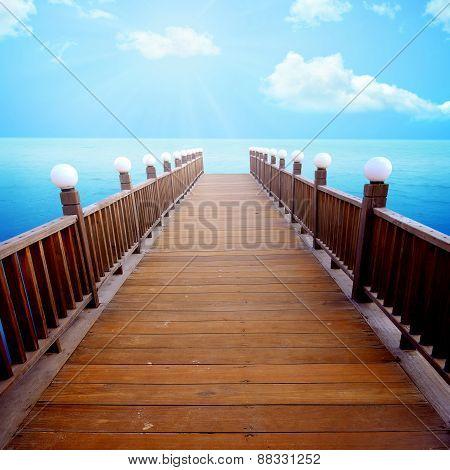 Wooden Pier Background