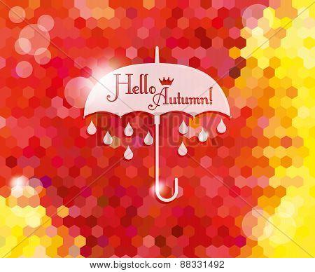 Seasonal Vector Of Umbrella.