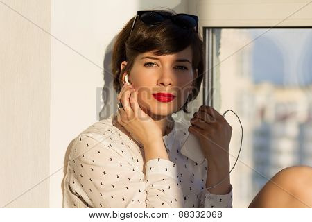 Dreamy Girl Near The Window