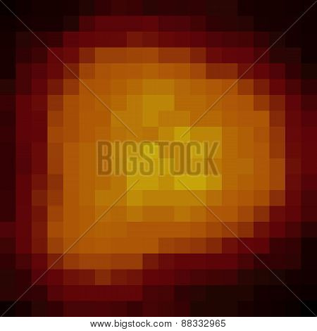 Pixel Explosion Background In Fire Color