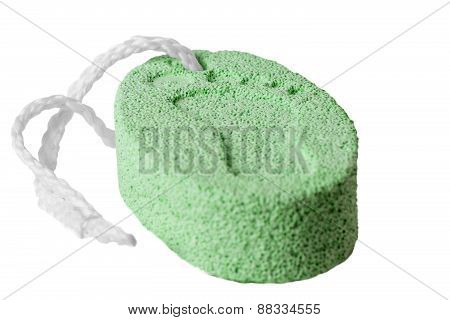Bar Of Pumice On A White Background Closeup