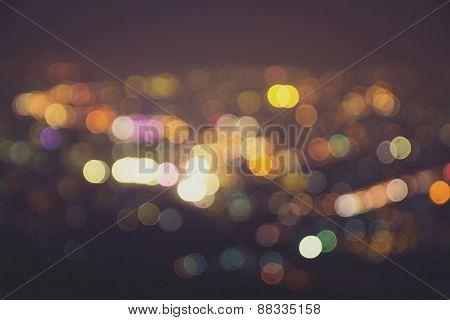 Blurred Lights,vintage Effect