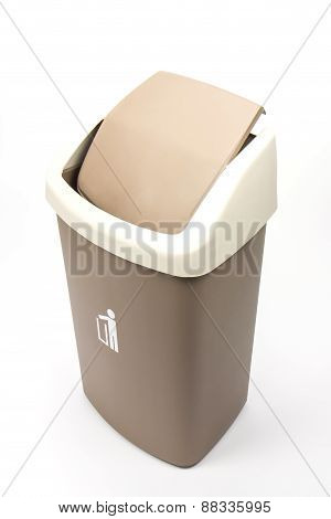 Recycle Bins Isolated Over White Background.