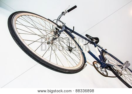 Bicycle Fixed Gear On White Wall