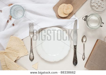 Cutlery Setting In Bright Colores