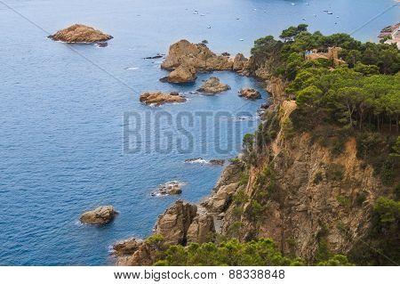 high rocky promontory