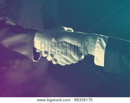Handshake Handshaking And Light