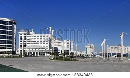 Ashgabat, Turkmenistan - October 23, 2014: Olympic Village (ashgabat, 2017). October 23, 2014.  Ashg