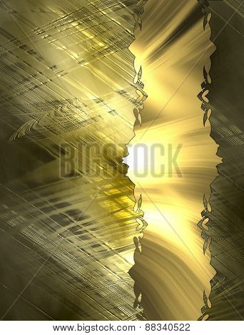 Abstract Gold Background With Tape. Design Template