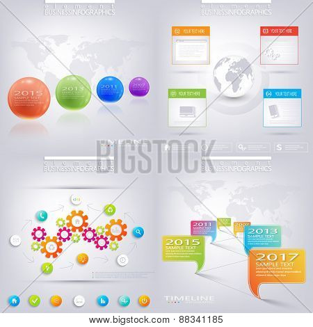 Modern infographic design with place for your text. Business concept with 3, 4 options. Can be used
