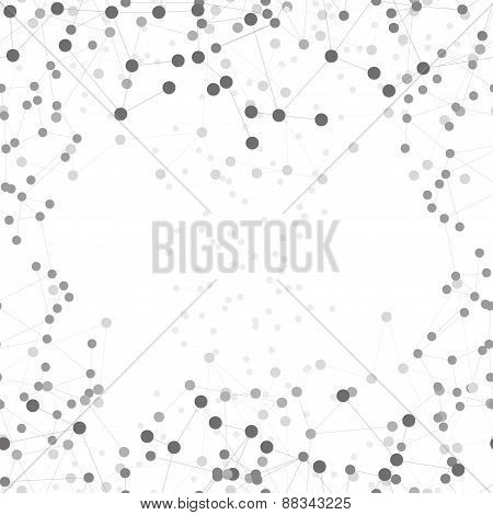 Molecule structure background, seamless pattern. Business template for webdesign, science design vec