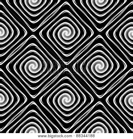 Design Seamless Monochrome Labyrinth Pattern