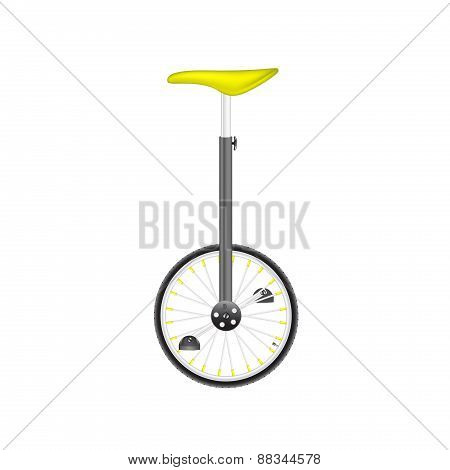 Circus bike in black and silver design with yellow seat Print