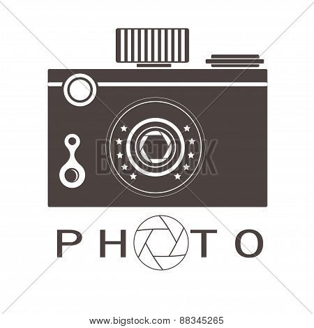 Photo Studio Logo. Hipster Style.