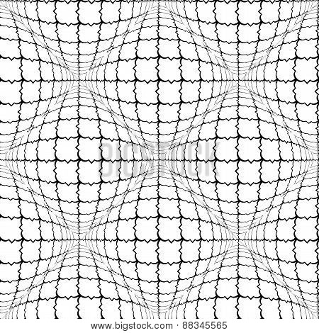 Design Seamless Monochrome Convex Pattern