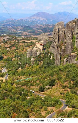 Road To Hanging Monastery At Meteora, Greece