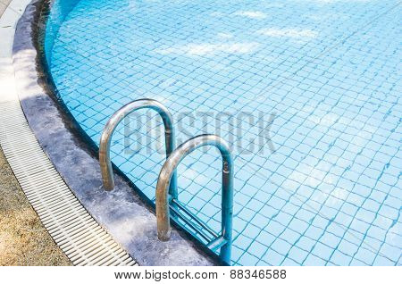 Stairs Of The Empty Swimming Pool