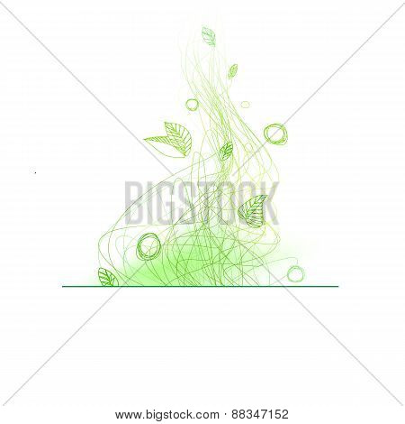 Summer Linear Drawing Decorative Element