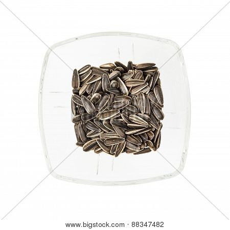 Flax Seeds In The Glass Bowl