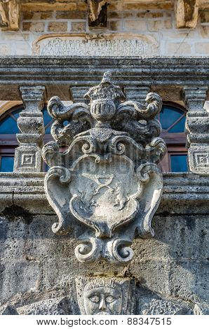 Closeup Of Wall Details Sculpture