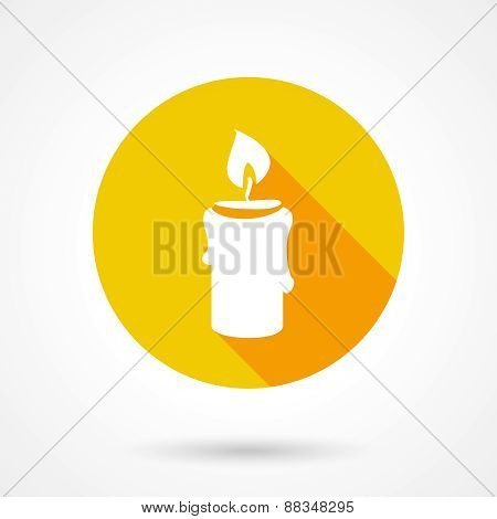 Flat candle icon