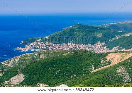 View On Mountain, Sea And Budva