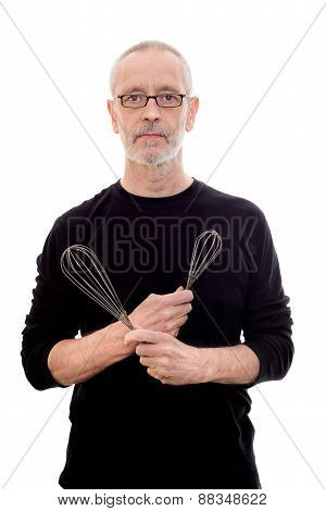 Man With Wire Whips
