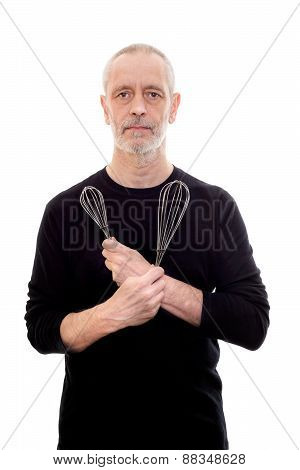 Man With Wire Whip