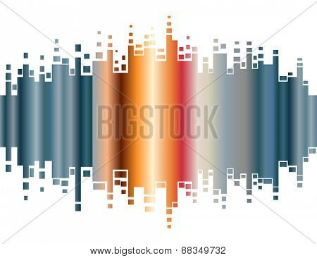 Abstract colorful gradient indicator. Abstrsct vector background