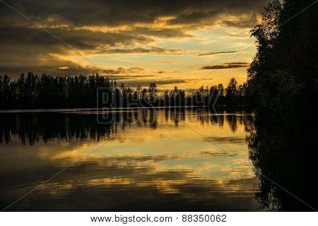 Mirror lake in Alaska