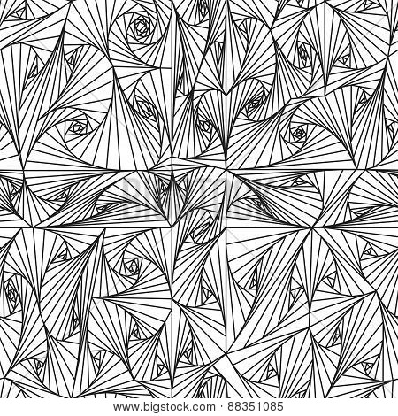 Seamless Angle Pattern Black And White.