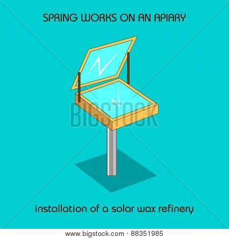 Installation Of A Solar Wax Refinery (spring Work)