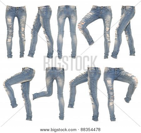collage of female jeans