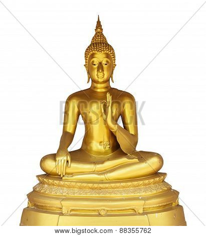 Gold Buddha On White