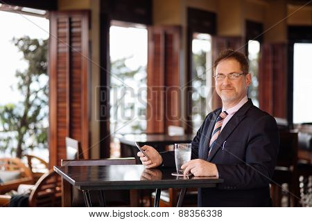 Businessman in the bar