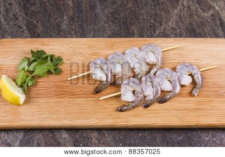 Prawn kebabs