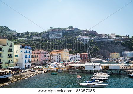 A beautiful landscape. Overlooking the beautiful seaside town in the Mediterranean
