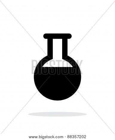 Full florence flask simple icon on white background.