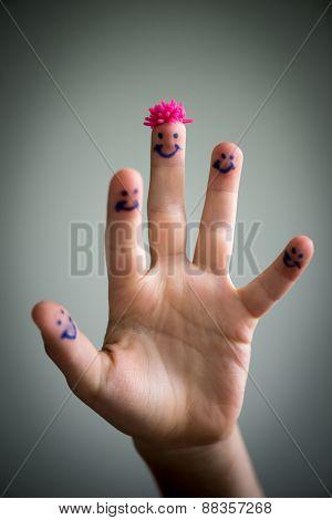 Happy finger smileys