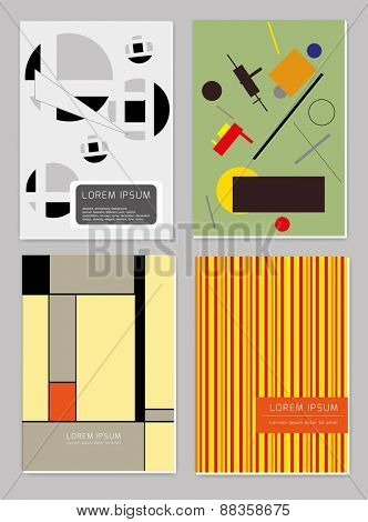 Vector  business brochure cover  template set