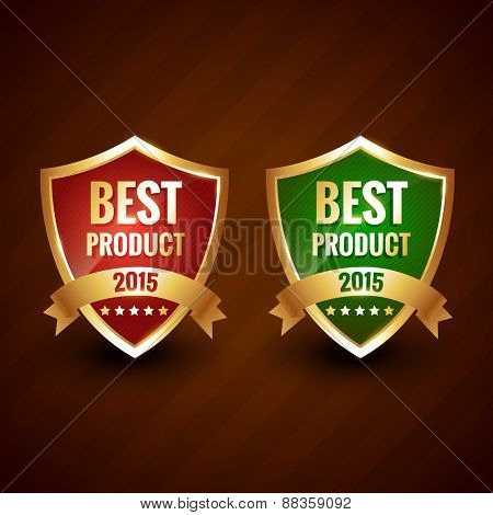 best 2015 product of the year golden label design vector badge