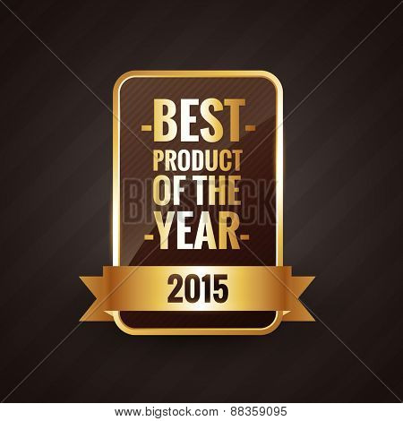 best product of the year 2015 golden label design element