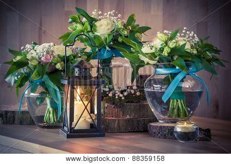 Still Life With Bouquets And Candles