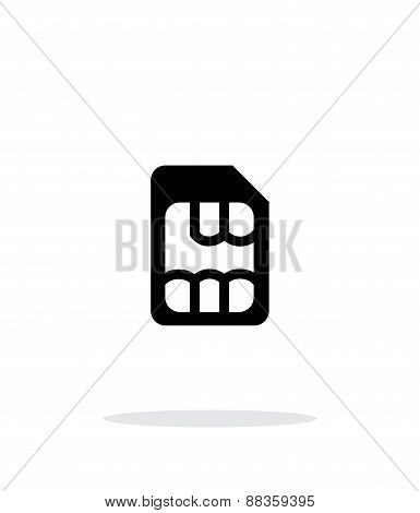 Micro SIM simple icon on white background.